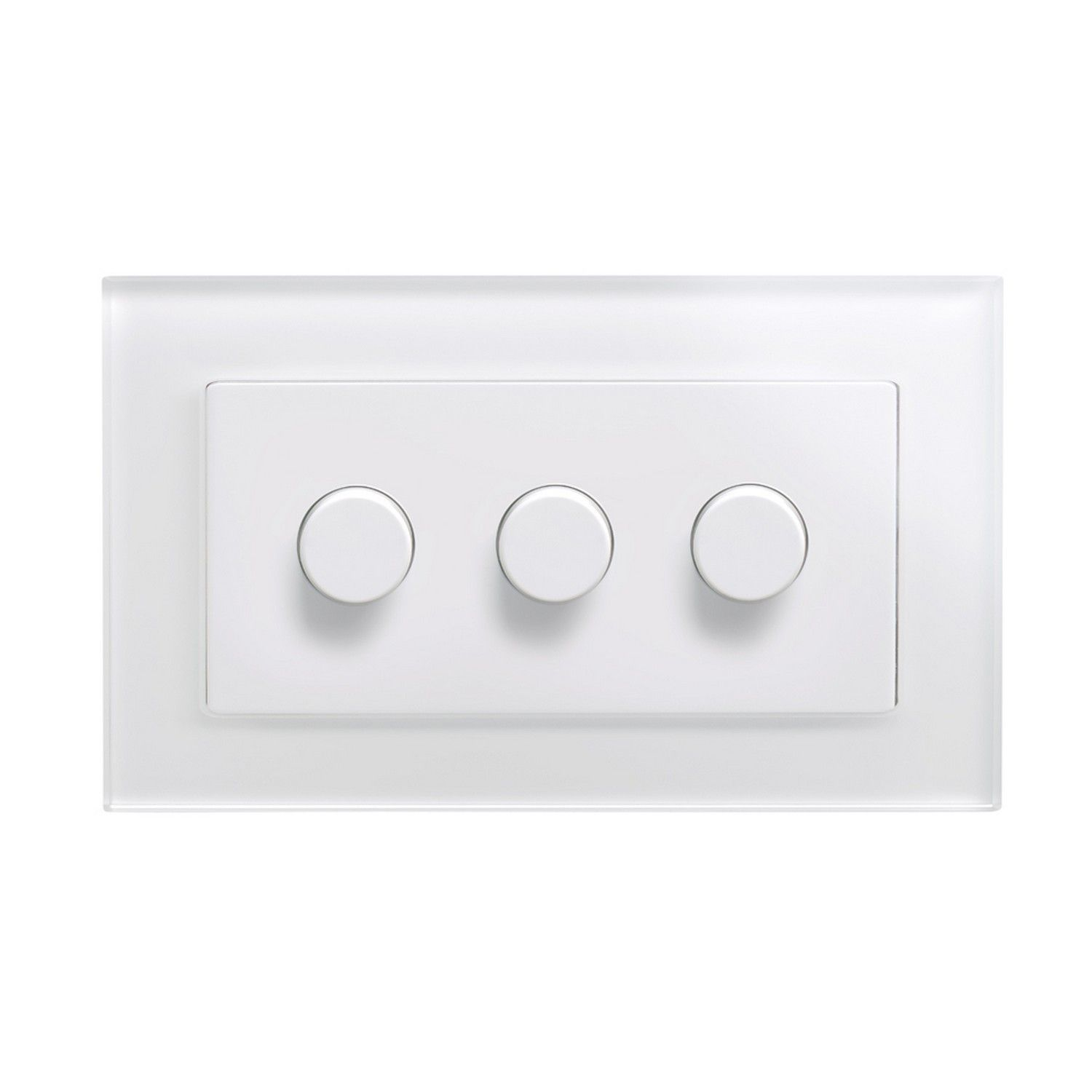 Retrotouch 3 Gang 2 Way Dimmer Switch 200w Led Halogen White Light Glass Pg